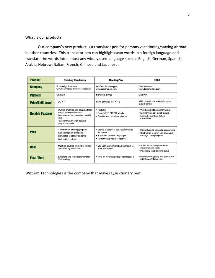 Translator Pen Marketing Plan