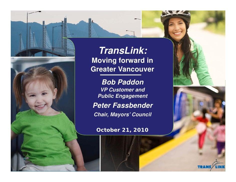 Translink presentation to Delta Chamber of Commerce