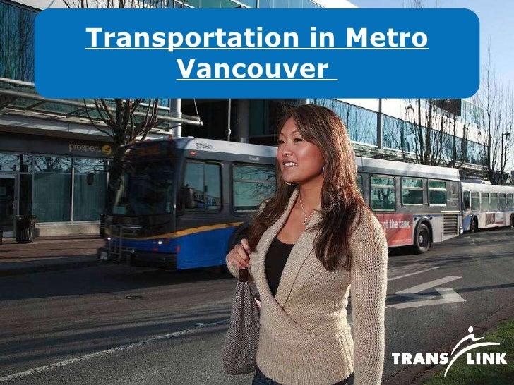 Transportation in Metro Vancouver