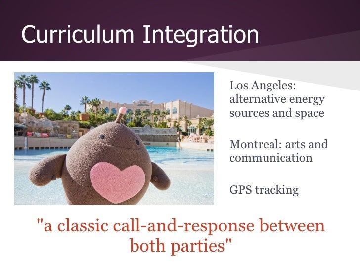 Curriculum Integration                         Los Angeles:                         alternative energy                    ...