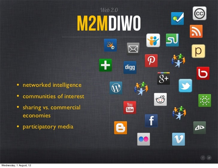 Web 2.0                                   M2mdiwo           • networked intelligence           • communities of interest  ...