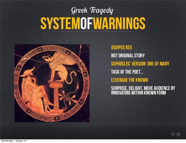 Greek Tragedy                          systemofwarnings                                          Oedipus rex              ...
