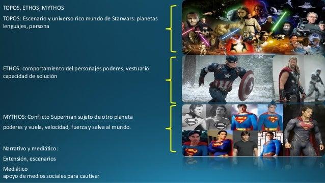 TOPOS, ETHOS, MYTHOS TOPOS: Escenario y universo rico mundo de Starwars: planetas lenguajes, persona ETHOS: comportamiento...