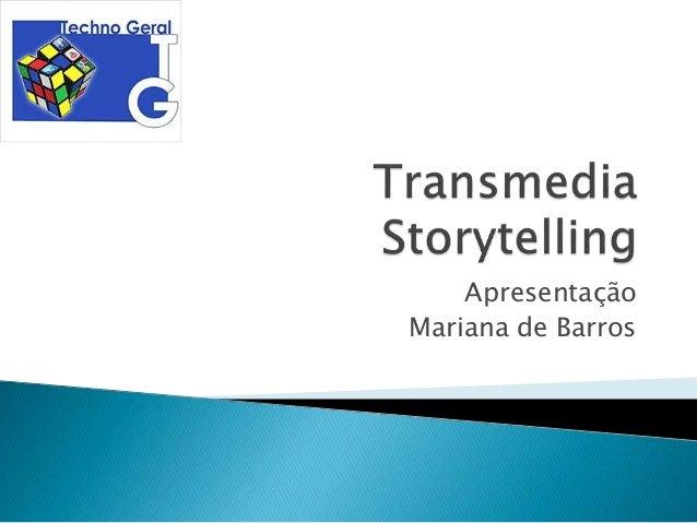 Apresentação Mariana de Barros