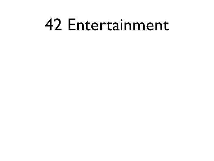 42 Entertainment
