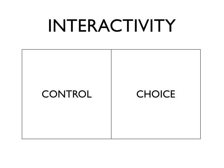 INTERACTIVITY  DESIGNER      USER CREATOR      GAMER AUTHOR     PARTICIPANT