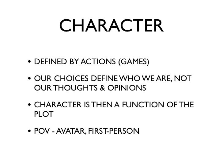 CHARACTER SIMPLE VS. COMPLEX