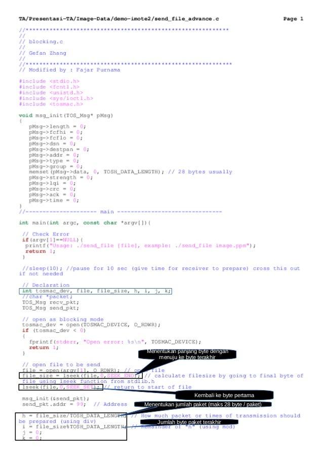 Menentukan panjang byte dengan menuju ke byte terakhir Kembali ke byte pertama Menentukan jumlah paketMenentukan jumlah pa...