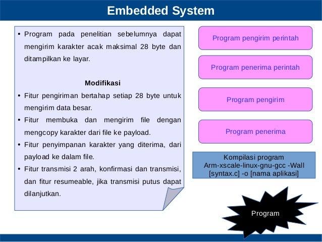 Embedded System Program Program pengirim perintah Program penerima perintah Program pengirim Program penerima ● Program pa...