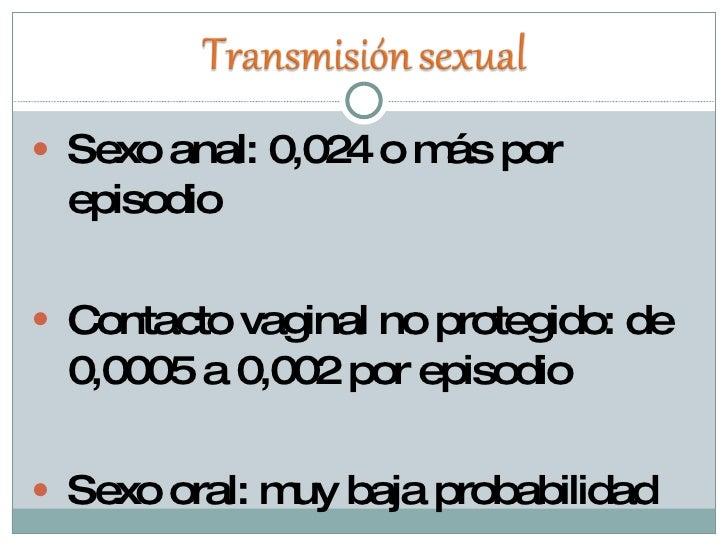 contagio vih sexo oral