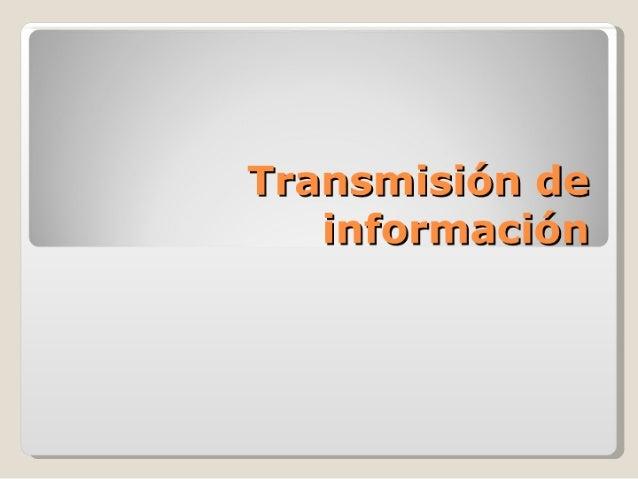 Transmisión de información diagrama hipervínculos.