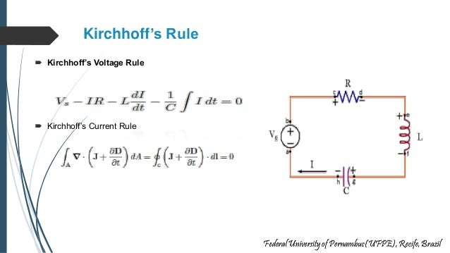 Kirchhoff's Rule  Kirchhoff's Voltage Rule  Kirchhoff's Current Rule
