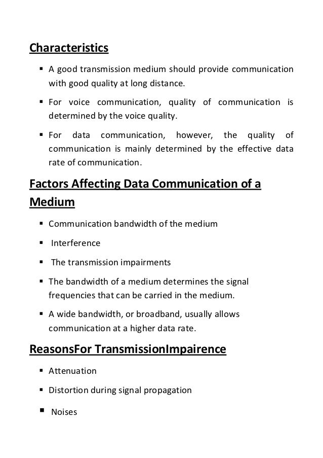 transmission media Unguided or unbounded or wireless transmission media sends the data through air (or water), which is available to anyone who has a device capable of receiving them in this tutorial we will learn about various unbounded transmission media.