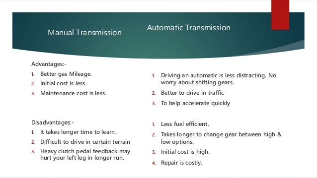 automatic vs manual transmission advantages best setting rh ourk9 co disadvantages of automated manual transmission disadvantages of manual transmission car