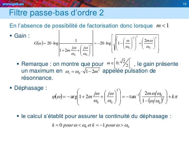 www.geii.eu 19     2 2;0m 2 0 21 mr ww Filtre passe-bas d'ordre 2 En l'absence de possibilité de factorisation d...