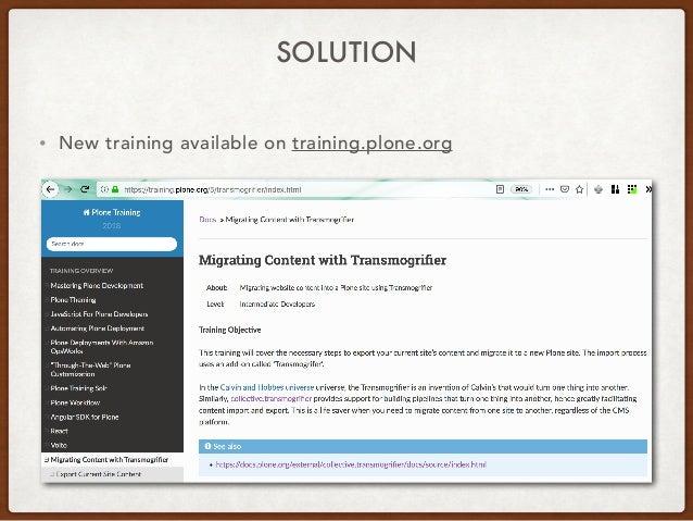 Introduction to Transmogrifier Slide 3