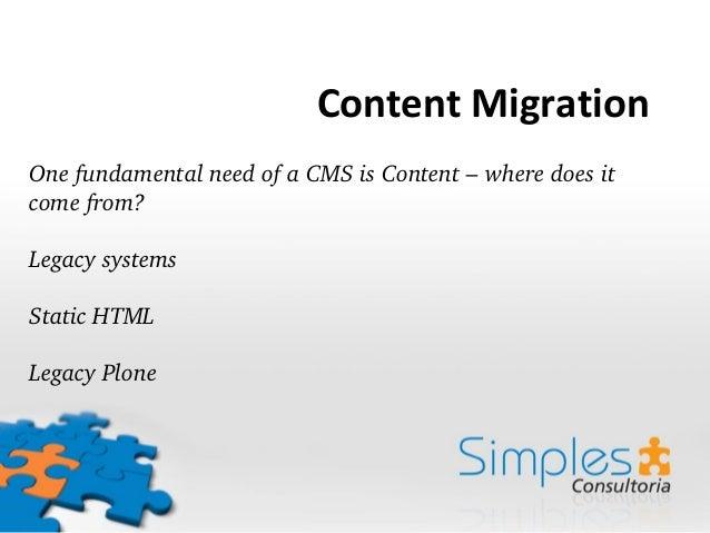 Transmogrifier: content migration and time traveling Slide 2