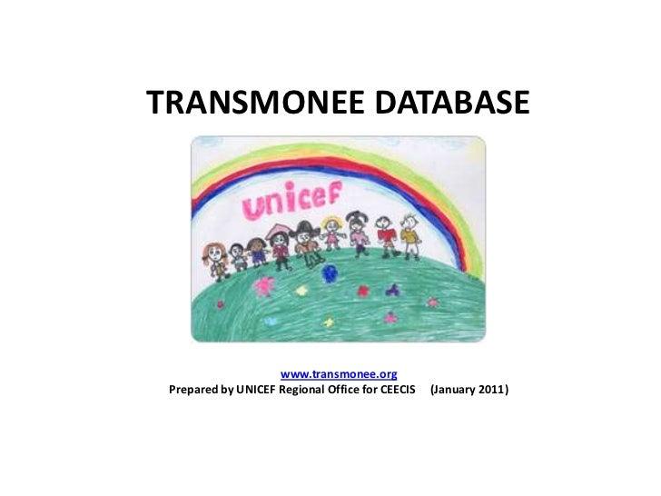 TRANSMONEE DATABASE<br />www.transmonee.org<br />Prepared by UNICEF Regional Office for CEECIS     (January 2011)<br />