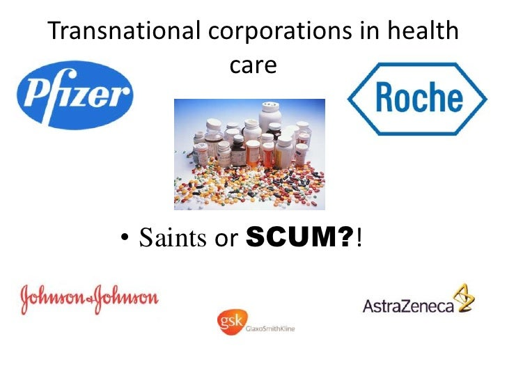 Transnational corporations in health care