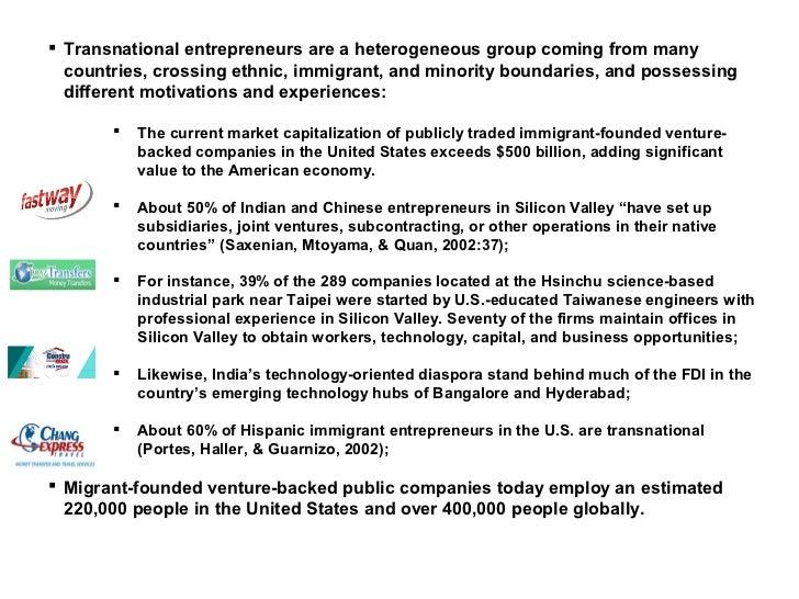 Transnational Entrepreneurship: An Emergent Field of Study ...