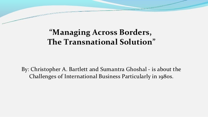 Transnational Solution