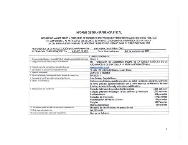 Transparencia fiscal  agosto 2013