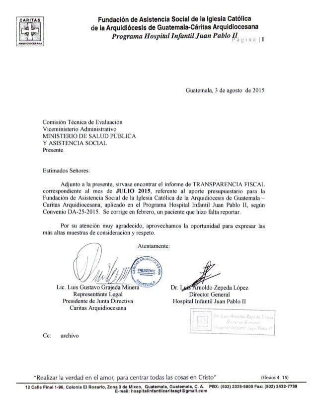 Fundación de Asistencia Social de la Iglesia católica de la Arquidiócesis de Guatemala-Cáritas Arqurdiocesana  Programa Ho...