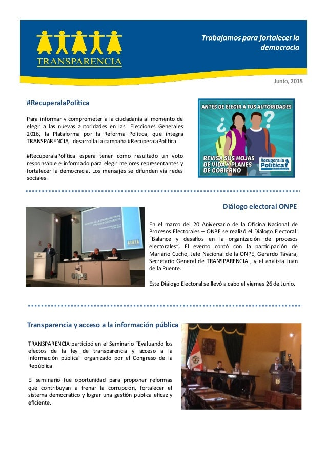 """TRANSPARENCIA participó en el Seminario """"Evaluando los efectos de la ley de transparencia y acceso a la información públic..."""