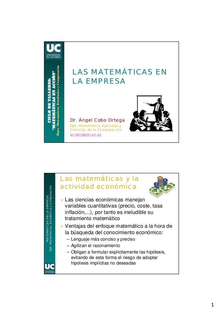Dpto. Matemáticas, Estadística y Computación                                                                              ...