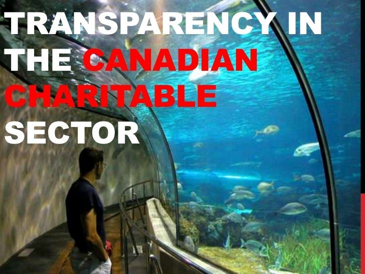 TRANSPARENCY INTHE CANADIANCHARITABLESECTOR