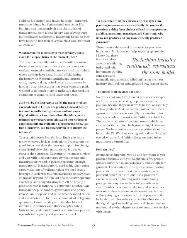 Transparent Magazine Sustainable Fashion In The Digital Era