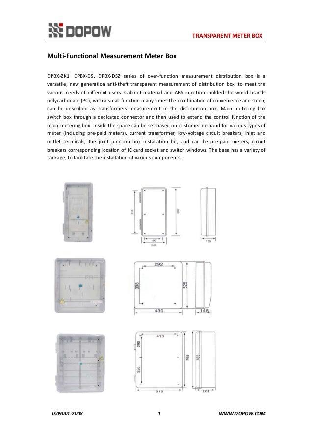 Dp Seriestransparent Meter Box    Distribution Box