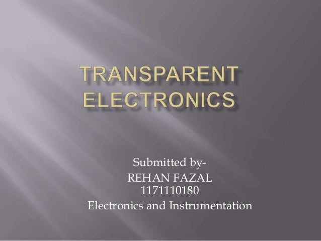 Submitted by- REHAN FAZAL 1171110180 Electronics and Instrumentation
