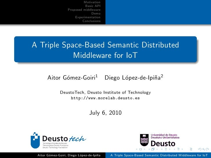 A Triple Space-Based Semantic Distributed Middleware for Internet of Things