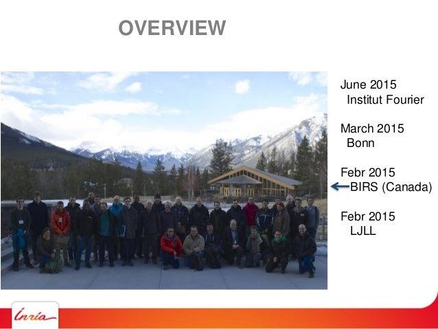 OVERVIEW June 2015 Institut Fourier March 2015 Bonn Febr 2015 BIRS (Canada) Febr 2015 LJLL