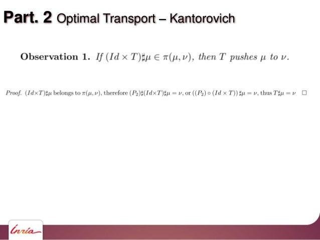 Part. 2 Optimal Transport Kantorovich