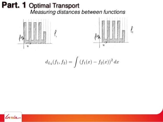 Part. 1 Optimal Transport Measuring distances between functions