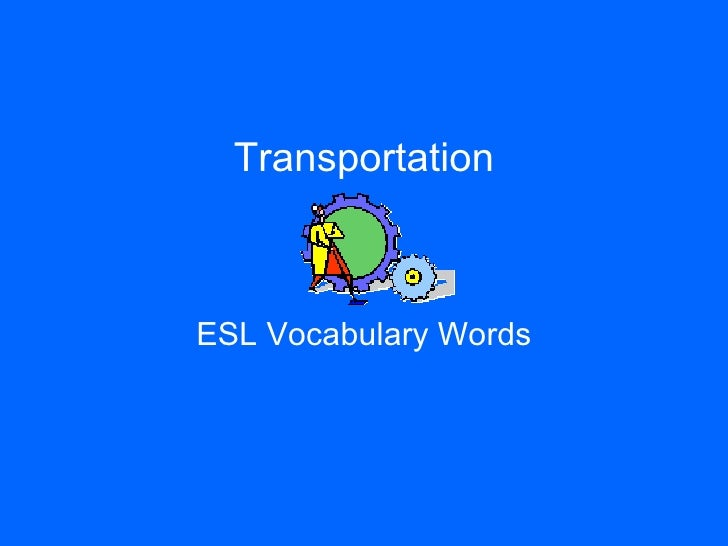 Transportation ESL Vocabulary Words