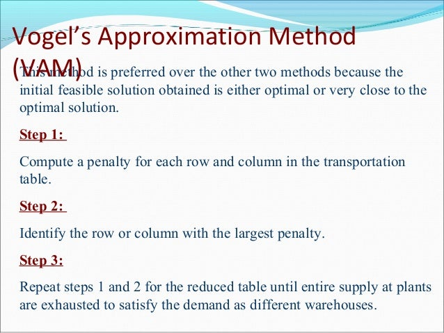 Transportation model and assignment model