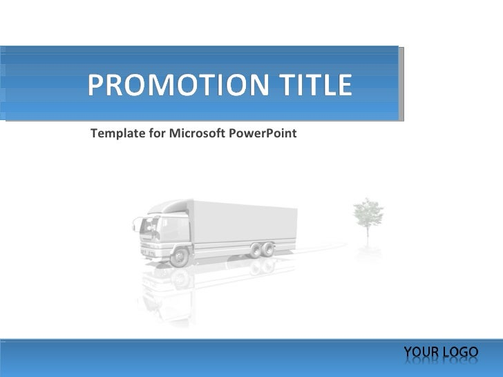 Template for Microsoft PowerPoint
