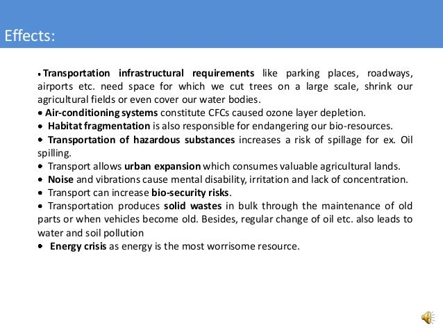 Transportation And Its Effect On Environment on Transportation Take Three Into Air