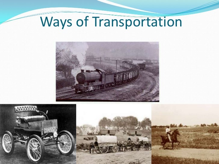 Transportation in the 1800s