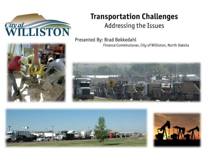 Transportation Challenges North Dakota Local Government