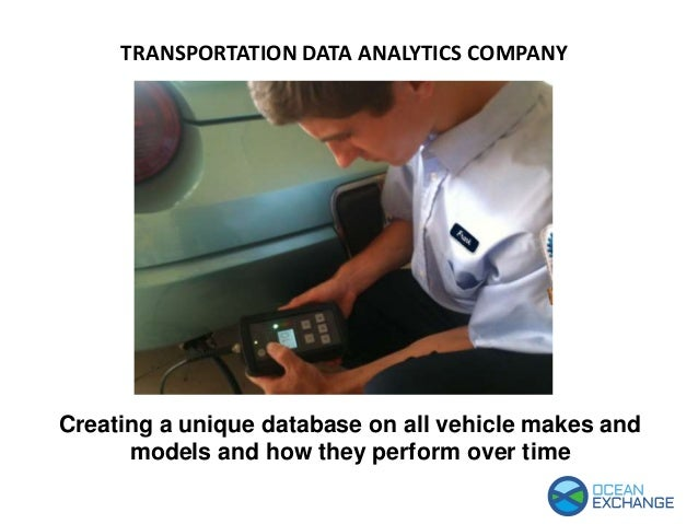 Creating a unique database on all vehicle makes and models and how they perform over time TRANSPORTATION DATA ANALYTICS CO...