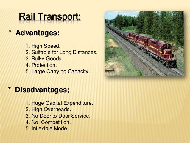 advantages and disadvantages of transportation system