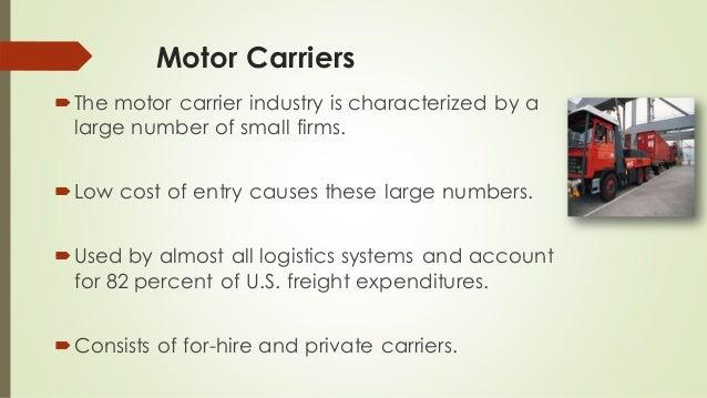 Transportation management for For hire motor carrier