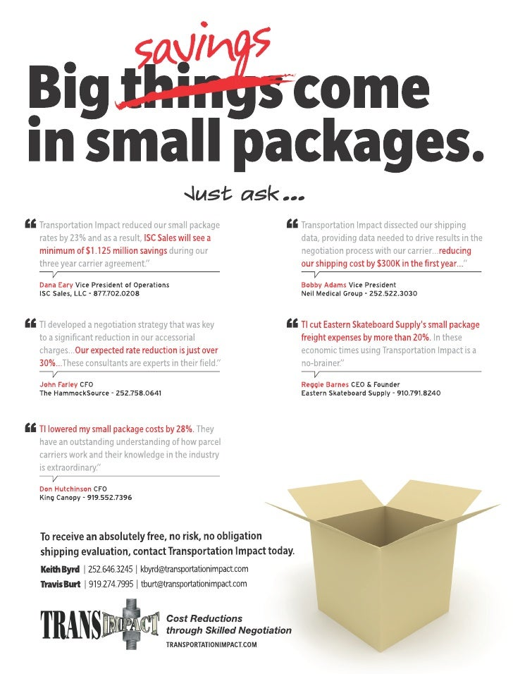 Big Savings in Small Packages