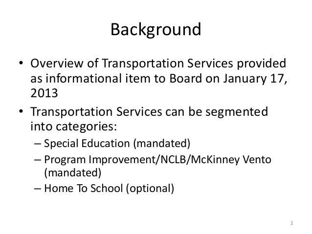 Transportation Level of Service Slide 2