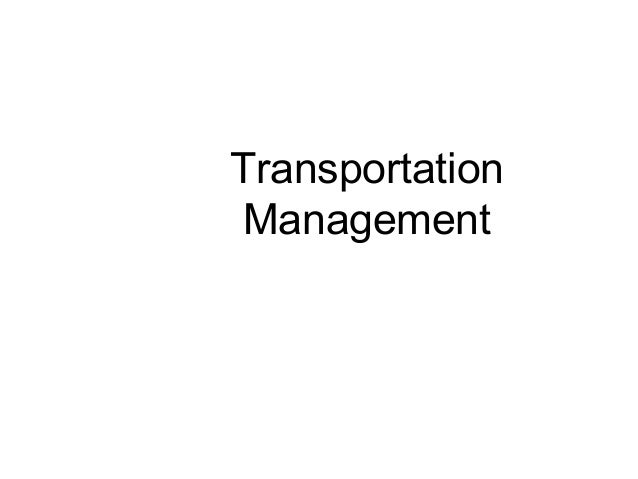 TransportationManagement