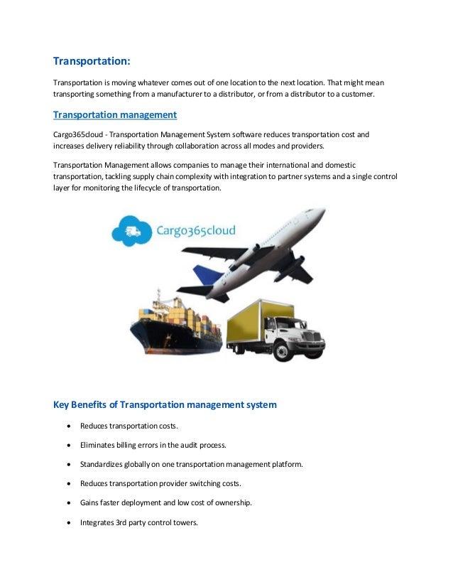 Transportation management system software